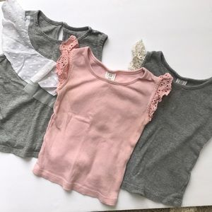 Baby gap shirts size 2t, group of 3 tank tops